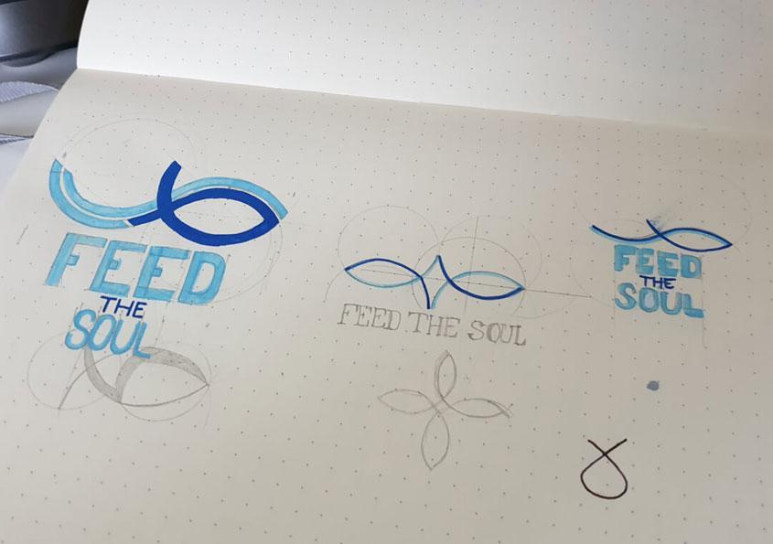logo design process sketches