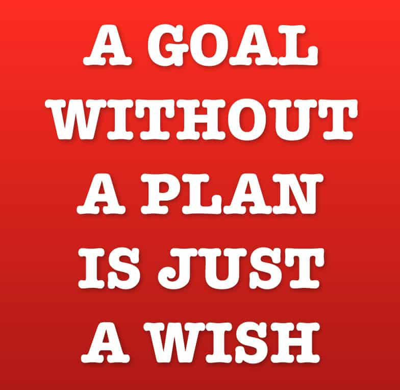 Goede voornemens - A goal without a plan is just a wish.