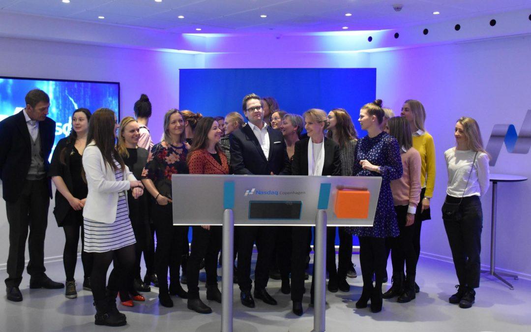 Ring the Bell for Gender Equality hos Nasdaq København