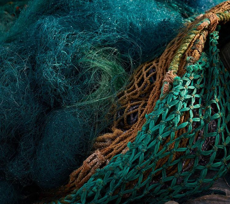 Ocean recycle fishnet for Ocean collection by Jørgen & Nanna Ditzel
