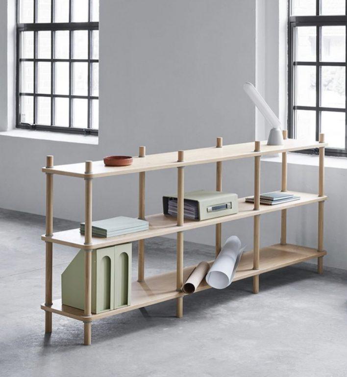 Wedge shelf system by Normann Copenhagen