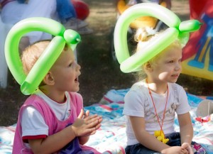 Young children enjoying a party