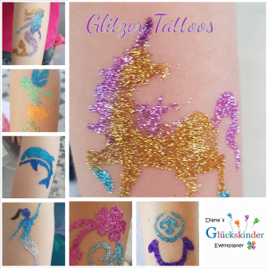 Glitzertattoos Glitzer Tattoo