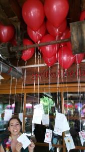 Heliumluftballons Hochzeit