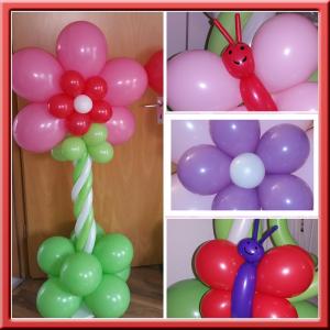 Blumen Dekoration Luftballon