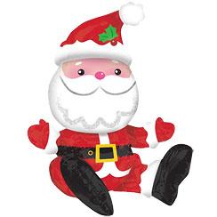 Luftballon Weihnachtsmann