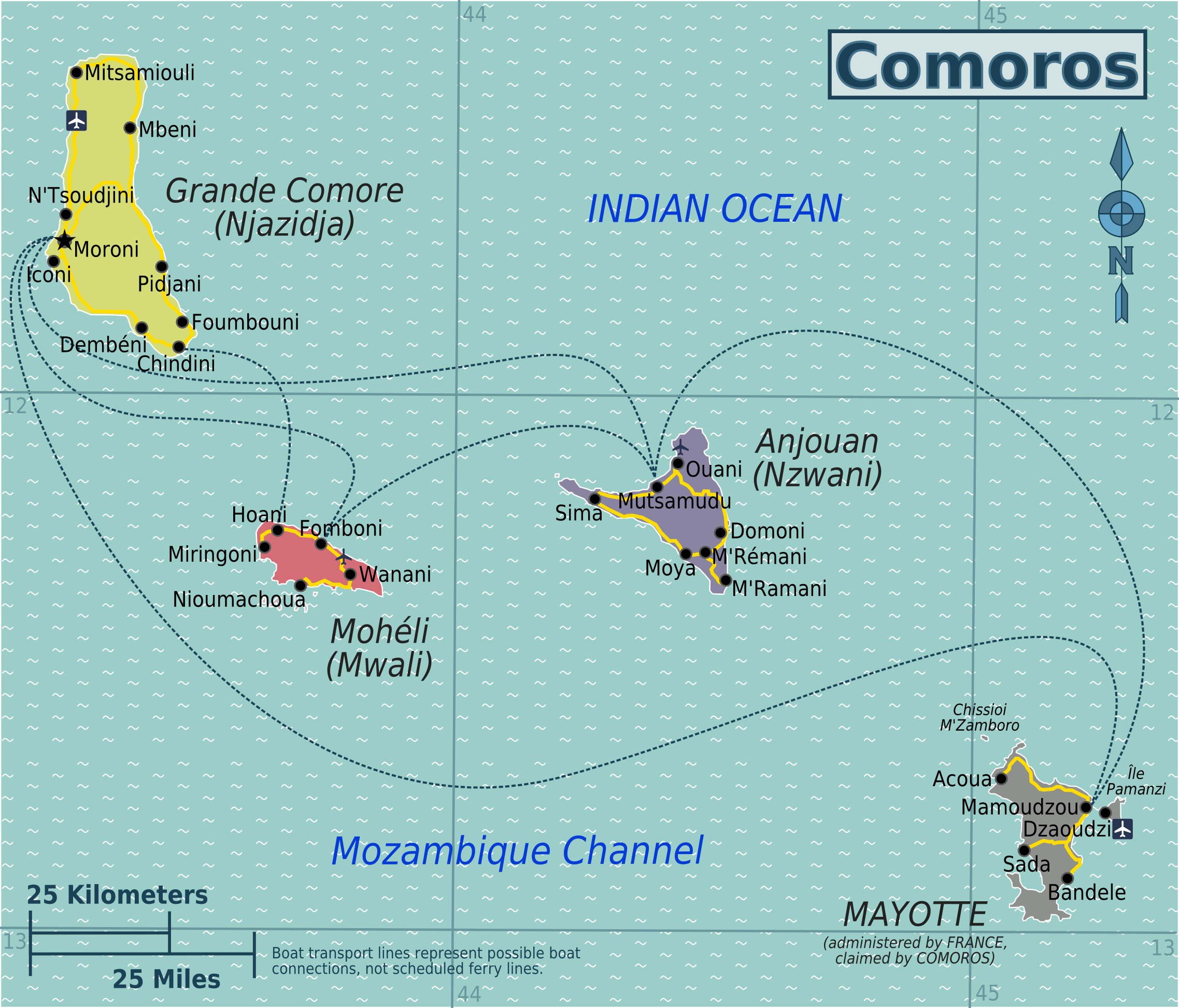 You are currently viewing CMA CMG starting fortnightly service between Longoni (Mayotte), Mutsamudu (Anjouan) and Moroni