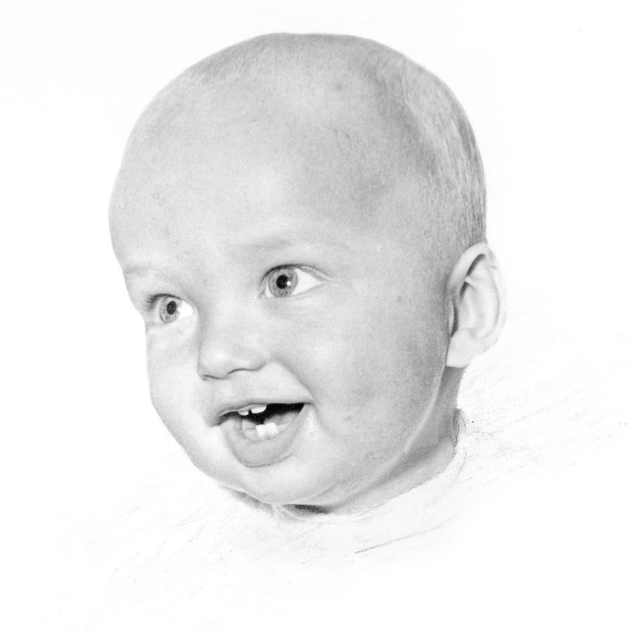 Portret Gerard baby by Jo Misdom