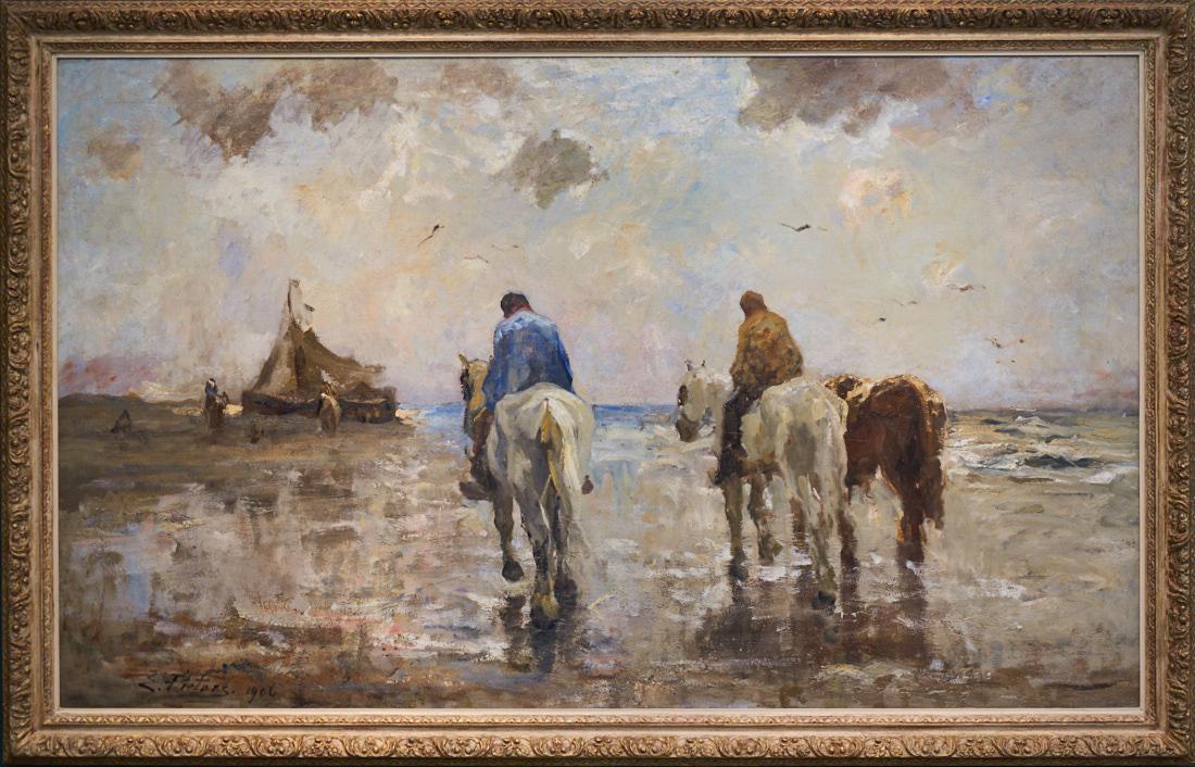 Evert Pieters 1856-1932 Langs het strand