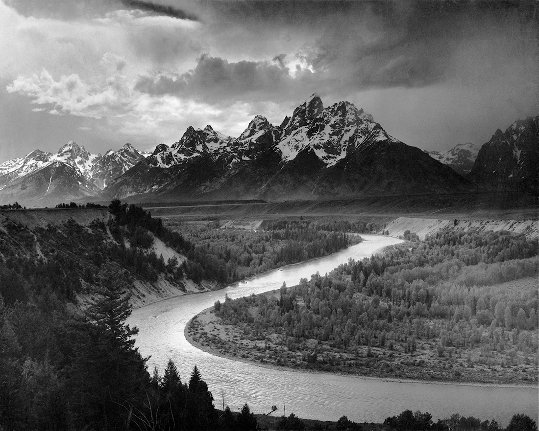 Ansel Adams the Tetons and the Snake River