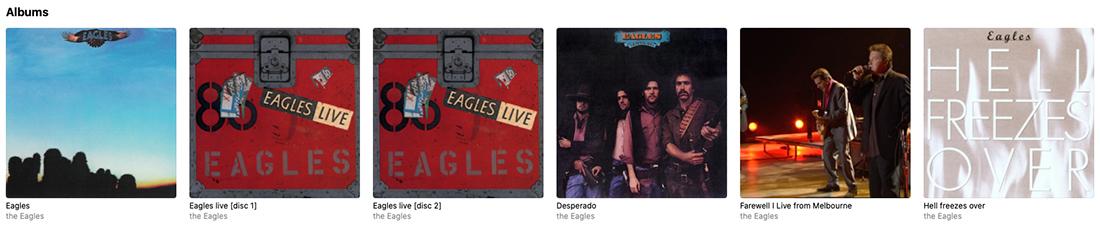 Eagles album platenspeler