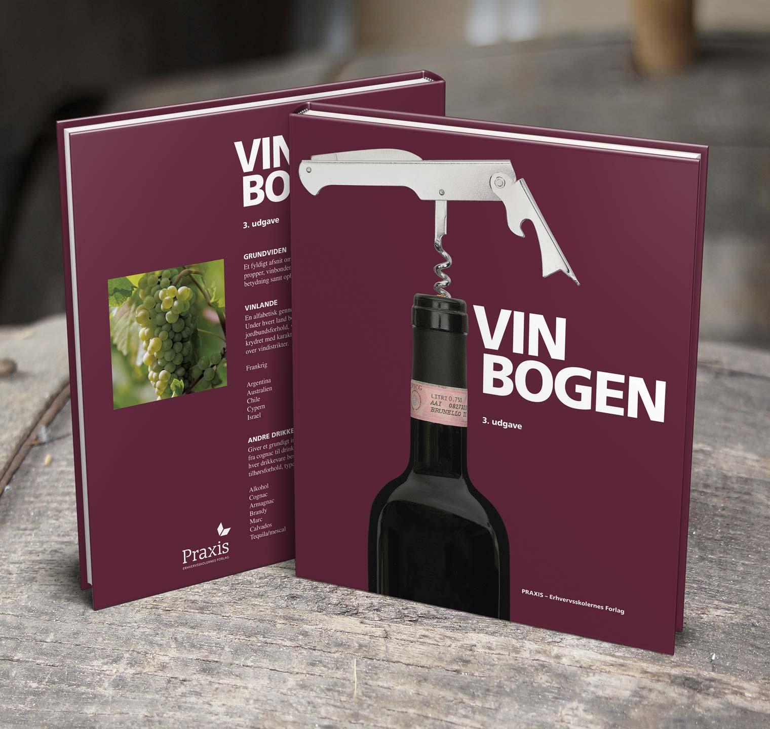 VINBOGEN - Design og sats: Omslag og indhold, forsidefoto.