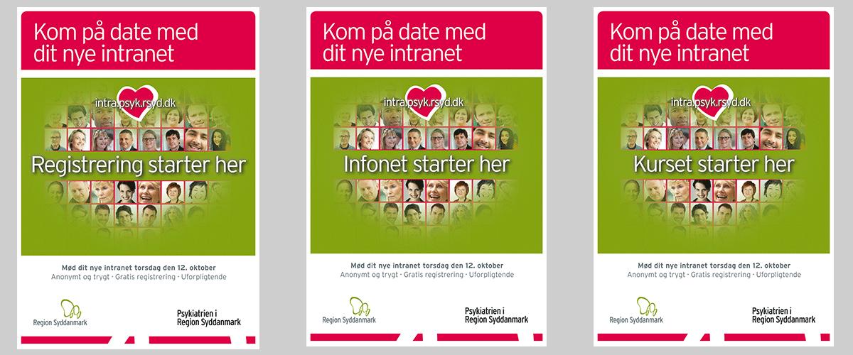 Plakater til Psykiatrien I Region Syddanmark