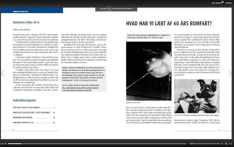 E-bog - Pdf konverteret til hjemmeside. Også kendt som en bladre-pdf. Med klikbar indholdsfortegnelse, her på venstresiden. Og med klikbare hyperlinks i boksen.