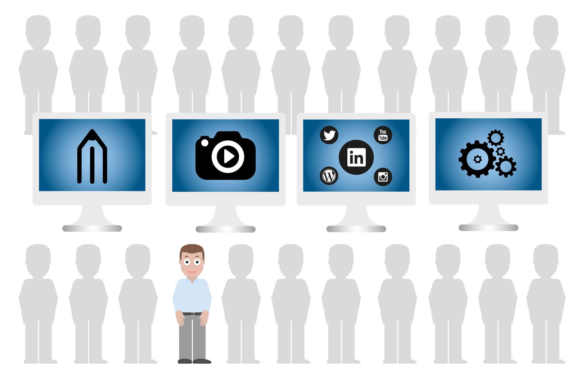 Grafiske produkter   Bliv set i mængden. Få flere kunder og vækst via synlighed.