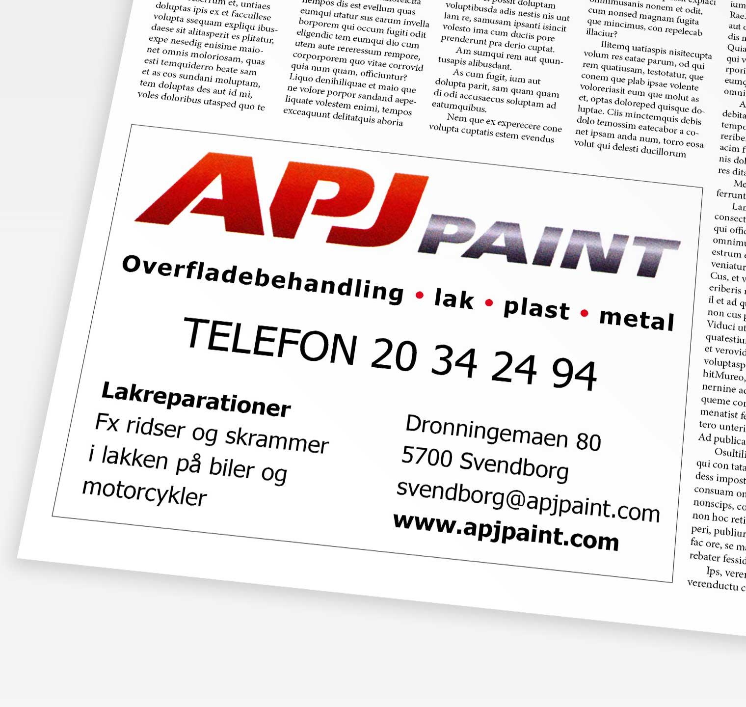 APJ Paint - Annonce