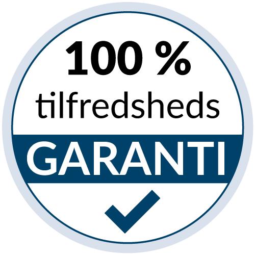 100 % tilfredshedsgaranti