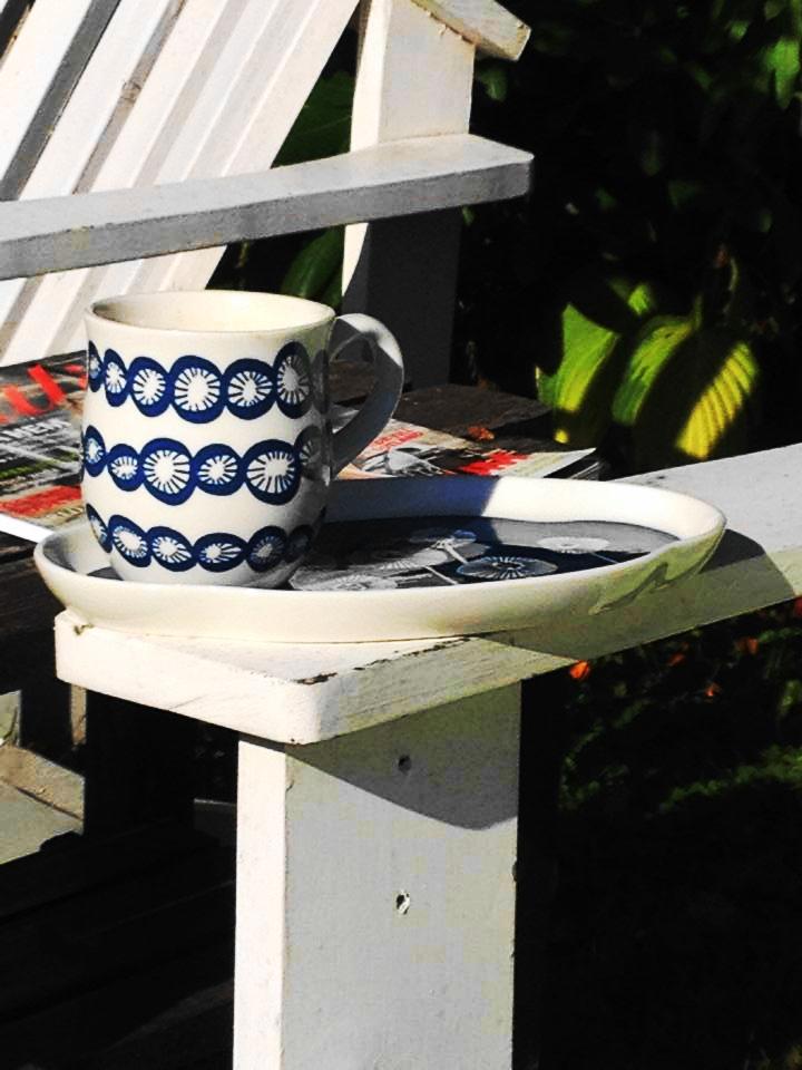 Morgonkaffe i rättan läge. Trädgård husköp planlösning