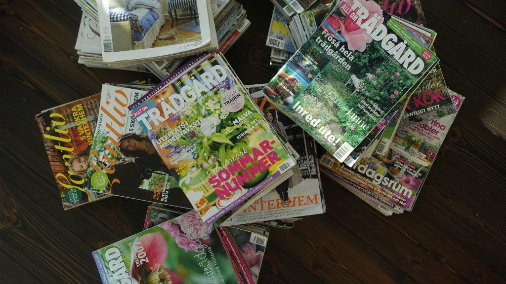 Sparade tidningar. tidningar magasin sparar