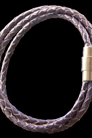 297020100 Bracelet, Brown leather, 18,5cm, Rosé gold clasp kopiera