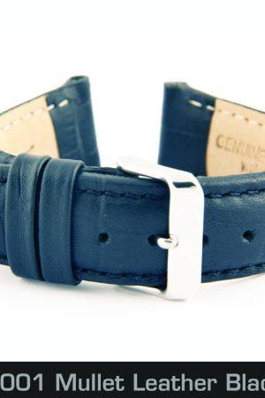 209050001 Mullet Leather Black 20mm