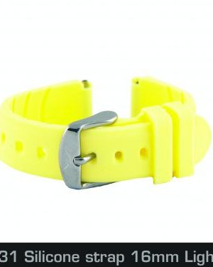 4460131 Silicone strap 16mm Light Yellow
