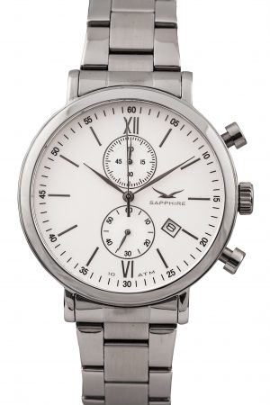 810012411 Pimlico II Chrono, White, Bracelet