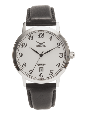 824011011 Piccadilly II White numbers Black leather