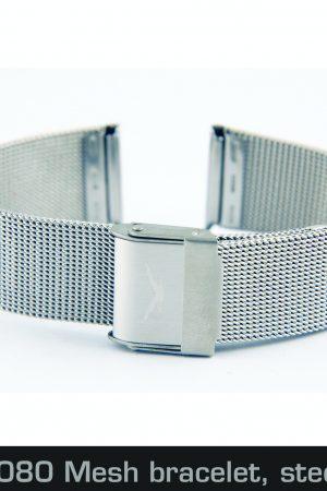 201442080 Mesh bracelet, steel, 18mm