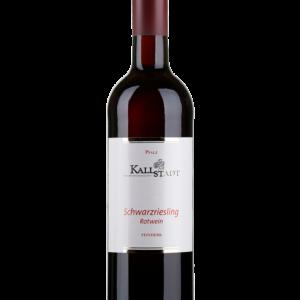 Flasche Rotwein Schwarzriesling