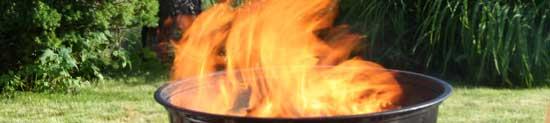 Grillflammen..