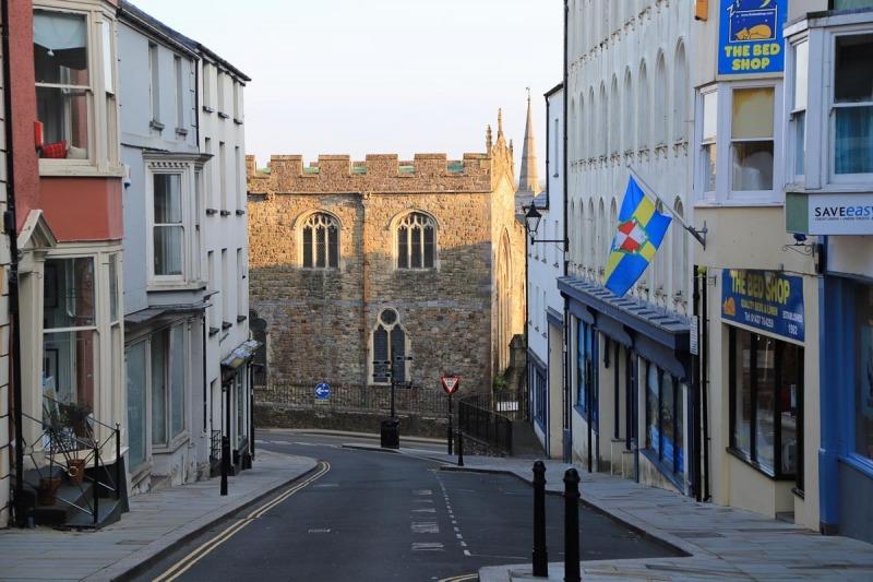 Market Street looking towards St Mary's Church
