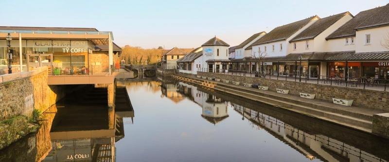 Haverfordwest Waterfront Shops and New Library