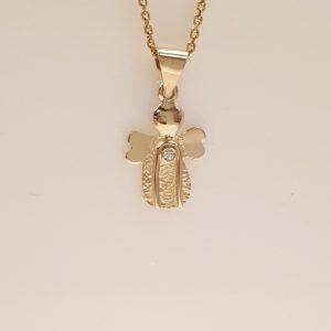 Skytsengle smykker i guld