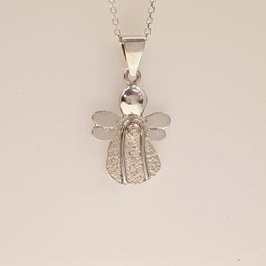 Skytsengel sølv med brillant