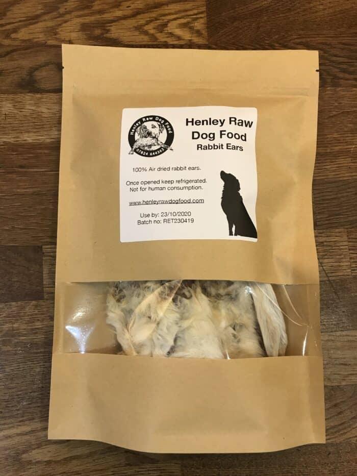 Dehydrated Rabbit Ears Dog Food