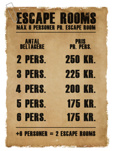Priser Escape Rooms