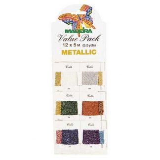Håndbroderi tråd metallic