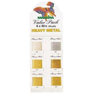 Håndbroderi tråd i guld & sølv
