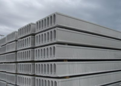 Hollowcore stockyard, hollowcore slab factory, prestressed concrete production