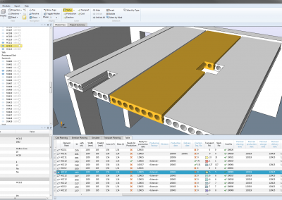 production planning software, hollowcore slab design