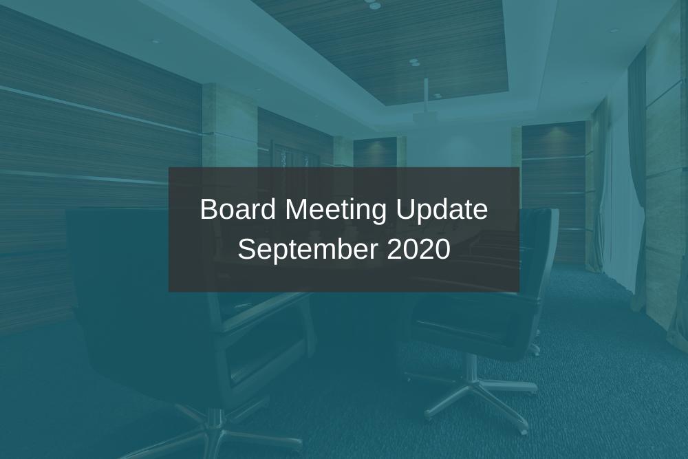 IPHA Board Meeting – 4 September 2020