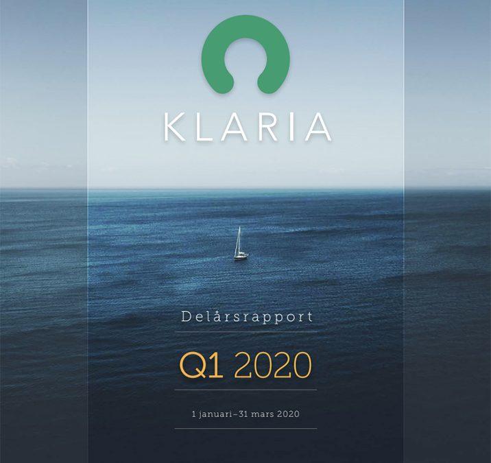 Klaria Interim Report Q1 2020