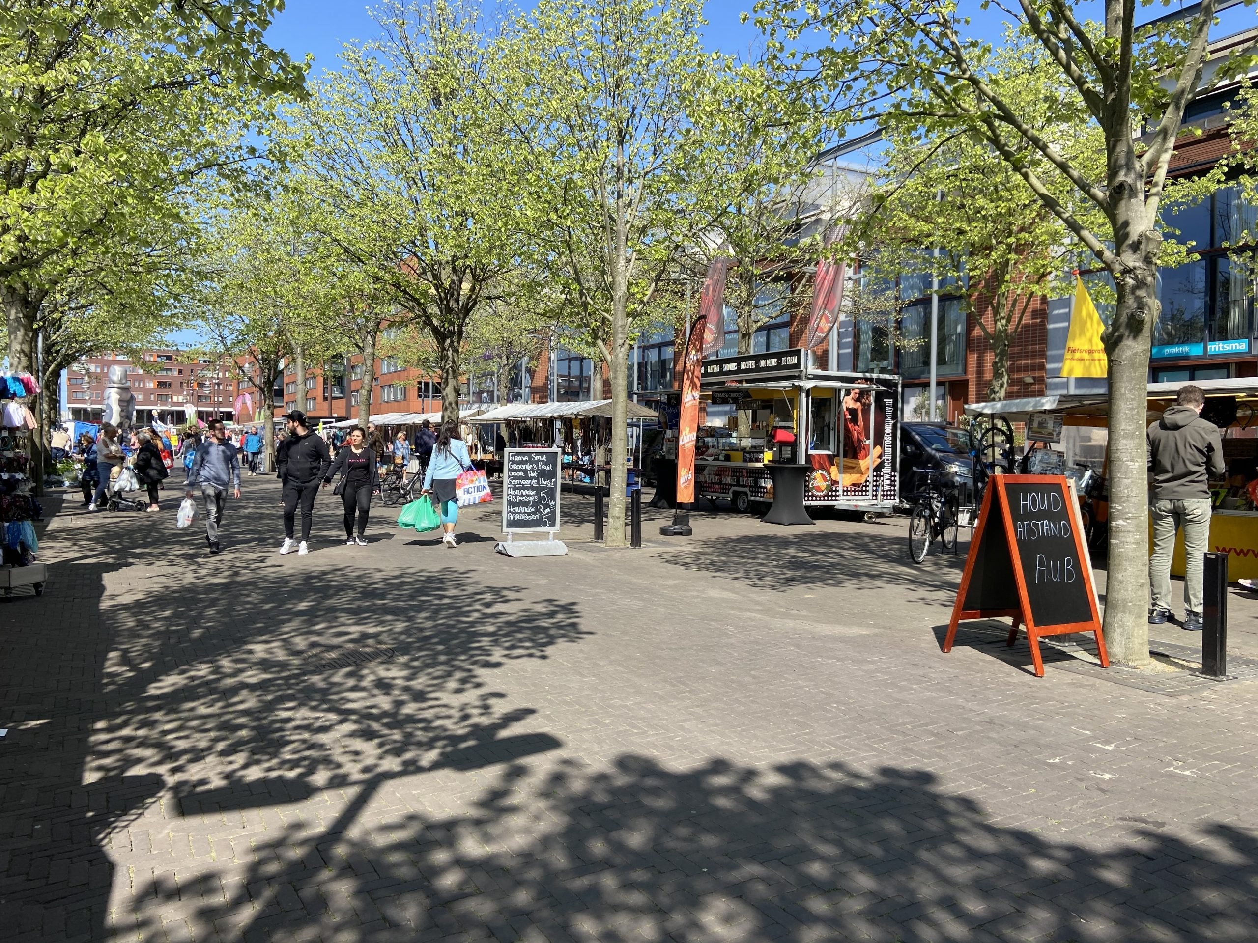 Veilig winkelen markt Hoofddorp Winkelstad
