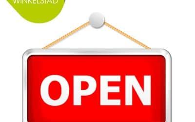 Op vrijdag tot 20:00 uur open