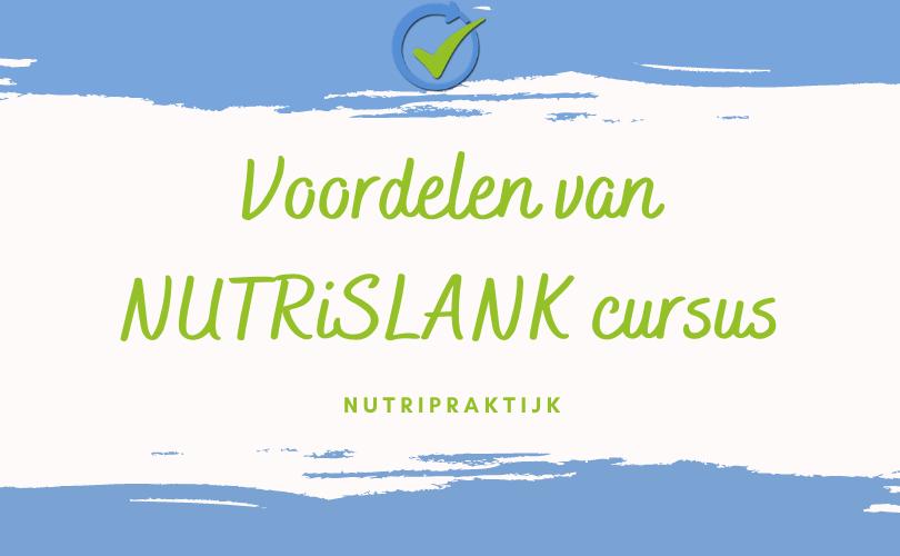 online NUTRiSlANK cursus