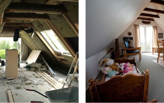 Before and after, renoveringen af Hotel Lolland