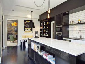 keuken met boeken