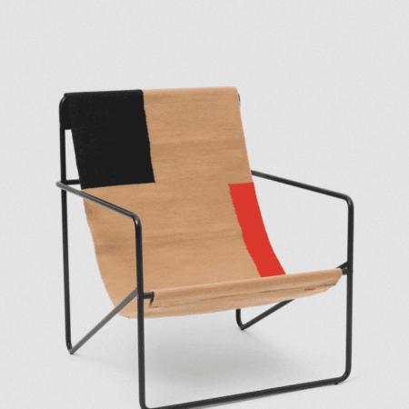 fermliving desert lounge chair black block