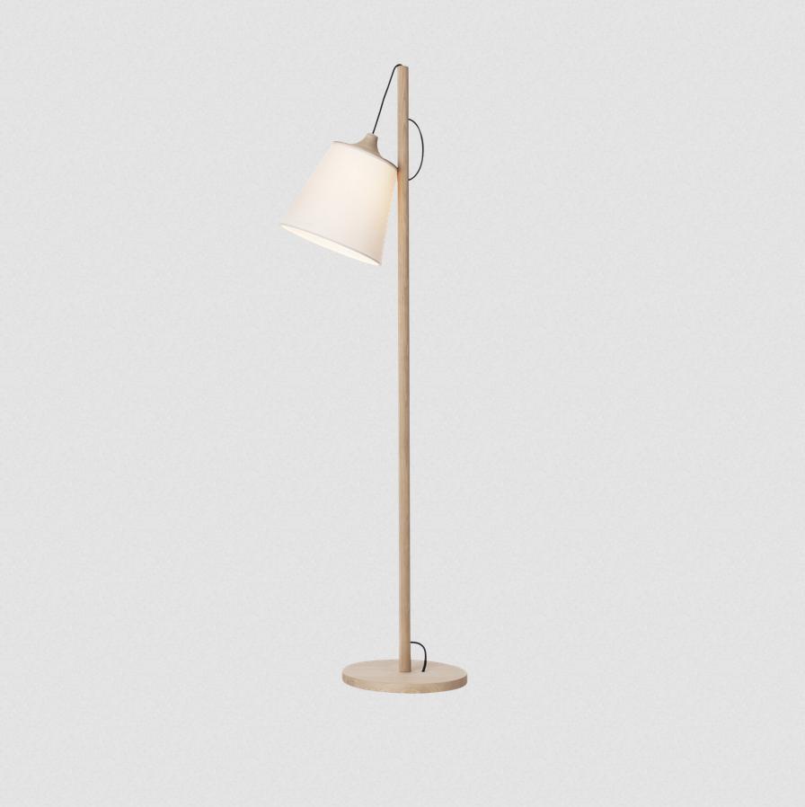 muuto pull floor lamp white - oak